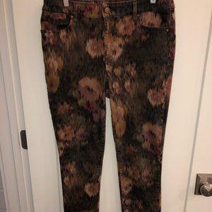 Chico's jegging jeans sz 1 (8) ikat print NWOT